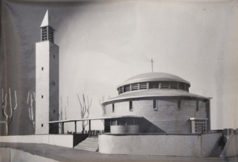 Etude préparatoire pour l'église de Kervignac