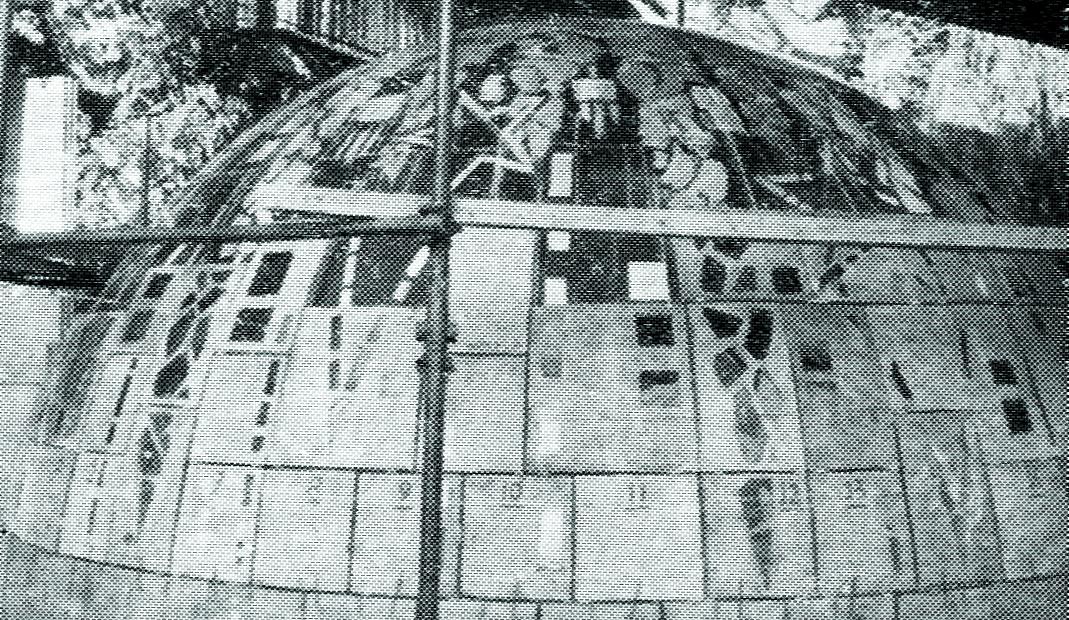 Construction d'un vitrail en datte de verre